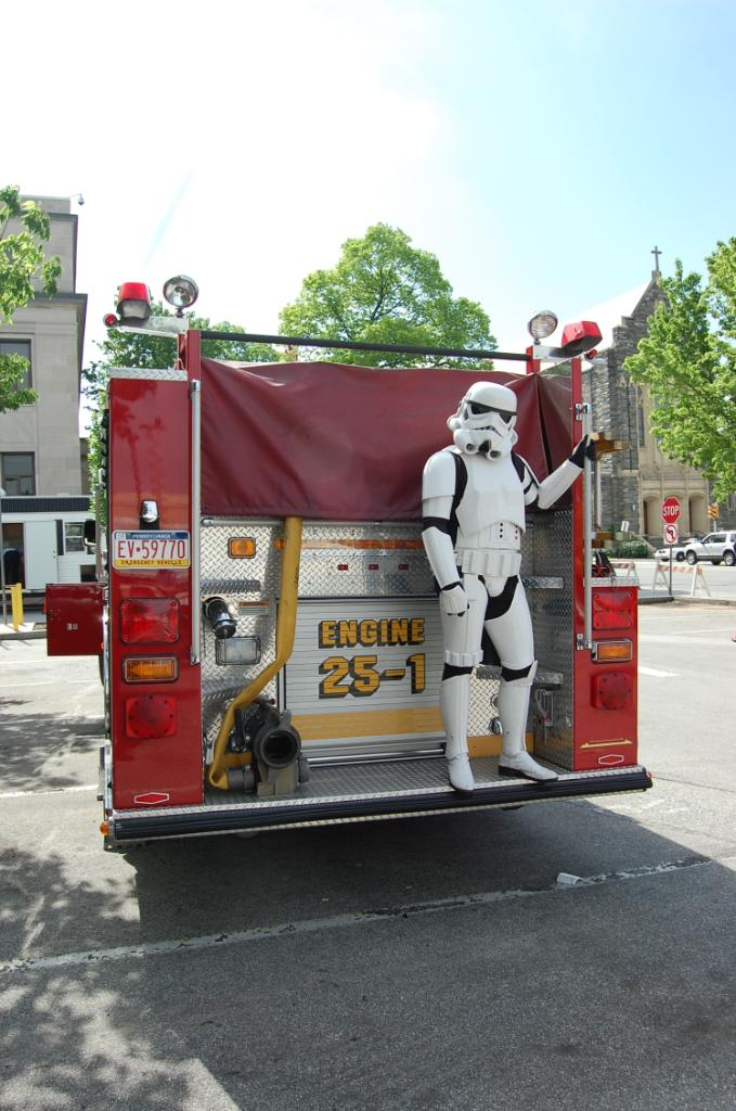 Stormtrooper on a Firetruck