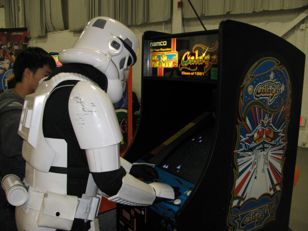 Stormtrooper Playing Galaga