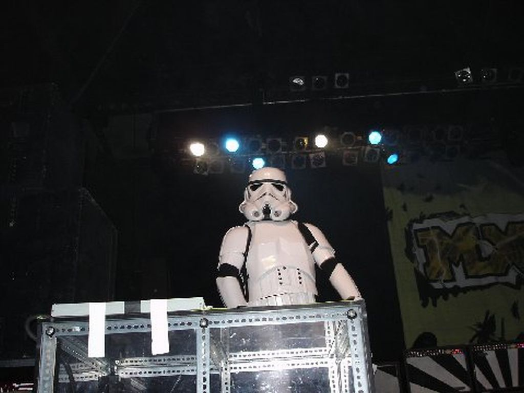 Stormtrooper on stage with MXPX 6