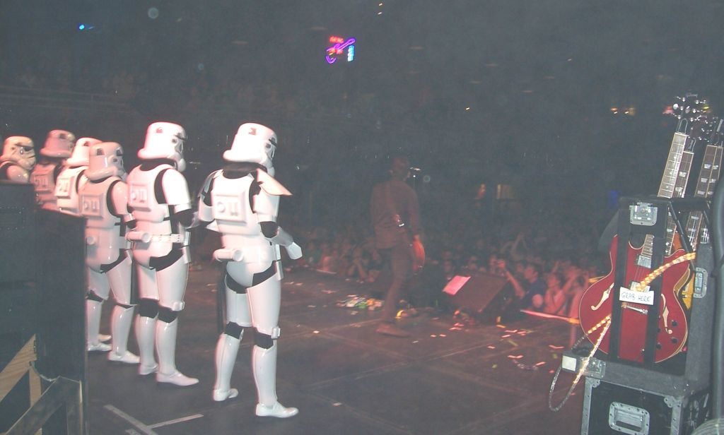 Stormtrooper on stage with MXPX 4