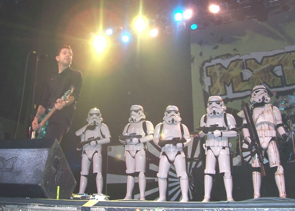 Stormtrooper on stage with MXPX 5