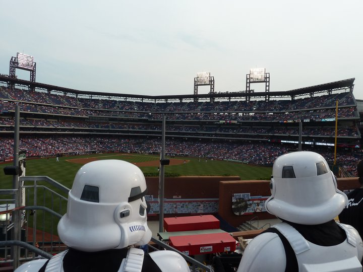 Stormtrooper Watching Game