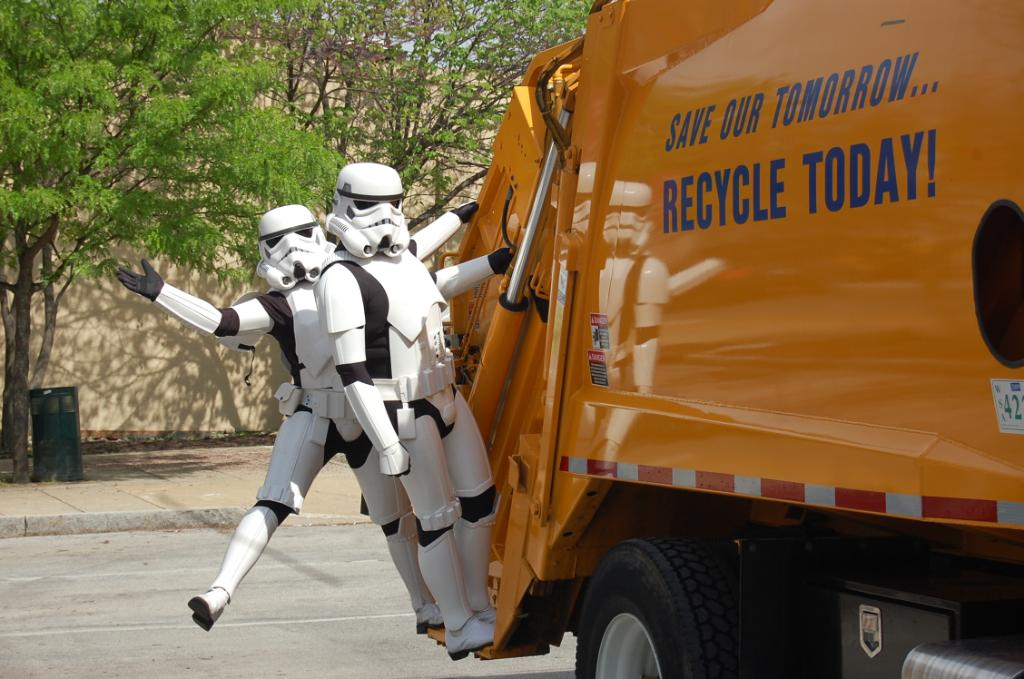 Stormtrooper on a Garbage Truck