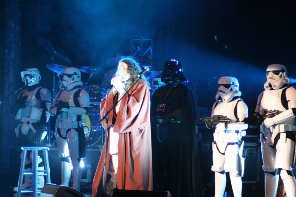 Stormtrooper on stage with Wierd Al 1