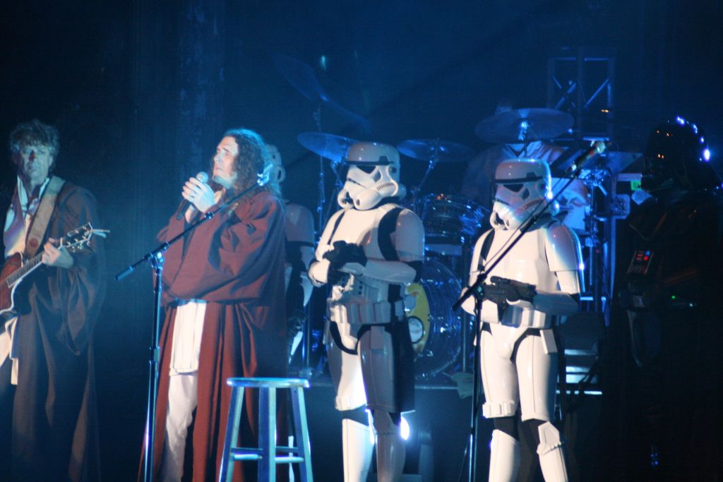 Stormtrooper on stage with Wierd Al 2